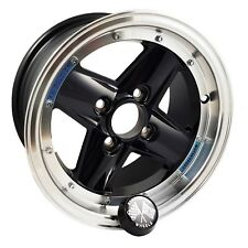 Set of 4 Revolution Wheels 7 x 13 4 Spoke Black Centre For Classic Mini MIN303