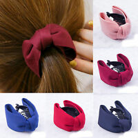 Women Girls Bow Hair Clip Hair Claw Clamp Butterfly Ponytail Grip Headwear Gift