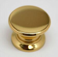 Allison Solid Polished Brass Knob Cabinet Cupboard Door Drawer Pull Hardware