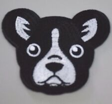 Cute Dog French Bulldog Patch Embroidered Iron On Patches S001