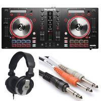Numark Mixtrack Pro 3 DJ Controller for Serato DJ + Cad Headphones + Hosa Cables