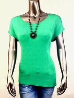 CHICO'S TRAVELERS *NEW 3P (PETITE-XL) GREEN SCOOP NECK ASYMMETRICAL TUNIC TOP