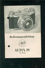 Bedienungsanleitung ALTIX IV