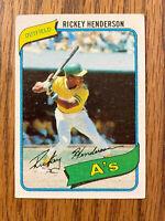 1980 Topps Baseball Rickey Henderson Rookie RC  HOF