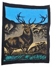 San Marcos Vintage Hi Pile Buck Deer Reversible Throw Blanket 60 X 80 Mexico