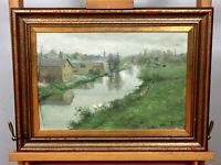 Hugo Vilfred Pedersen Kopenhagen 1870-1959 Ölgemälde antik Dänemark ? Landschaft