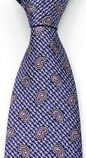 New Men's BRIONI Lavender Purple Pink Paisley Jacquard Woven Silk Neck Tie