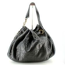 Authentic Dior Cannage Lambskin Bucket Bag Lady Handbag Tote Shoulder Bag