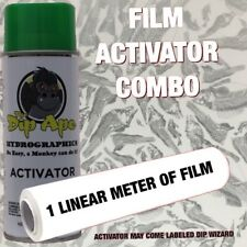 Silver/Clear Fish Bones Dip Ape Activator Film Combo Hydrographic Water Transfer