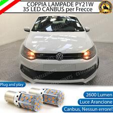 COPPIA LAMPADE PY21W BAU15S CANBUS 35 LED VOLKSWAGEN POLO 6R FRECCE ANTERIORI