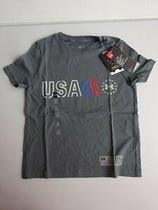 Under Armour Boy's Freedom USA Chest Logo Short Sleeve Tee NWT 2019