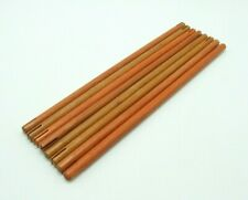 Tinkertoy 8 Orange Rods Replacement Parts 10 3/8 inch Wooden Tinker Toy Sticks