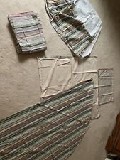 Martha Stewart Queen Bed Striped Bed Skirt, Round Table Covering, Valances, Etc