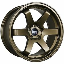 "18"" BOLA B1 ALLOY WHEELS MATT BRONZE FITS SUBARU IMPREZA FORESTER LEAGCY OUTBACK"