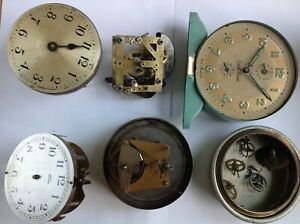 VINTAGE ALARM CLOCKS MOVEMENTS AND PARTS INCLUDING HAC SMITHS PERIVALE