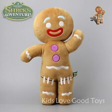 Shrek Adventure Gingerbread Man Gingy Plush Toy Soft Stuffed Animal Doll 19''
