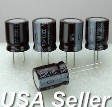 Lot 5 3300uF 10V Nichicon PL Series Low-ESR Electrolytic Capacitor 105C USA Ship