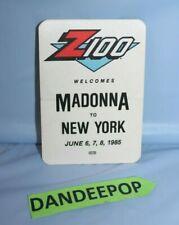 Vintage Z100 Welcomes Madonna To New York June 6,7,8 1985 Otto Sticker Unused