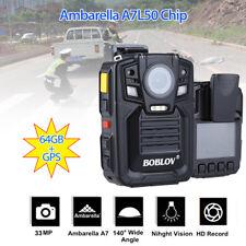64GB GPS Ambarella A7L50 Super HD 1296P Police Body Camera IR Vesion 140° Degree