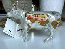 New Listing2000 Cow Parade #9158 Hot Dog Cow Figurine Retired With Hang Tag No Box