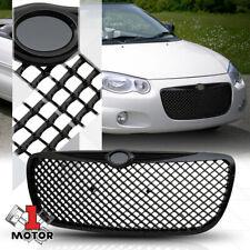 For 2004-2006 Chrysler Sebring {3D WAVE MESH} Glossy Black Front Bumper Grille