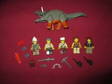 LEGO Dinosaur DINO Triceratops ,Minifigures Lot,Weapons Extras