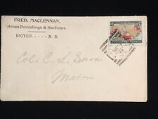CANADA PICTOU 1899 COVER #85 UNLISTED COLOR ERROR SQUARED CIRCLE CANCEL