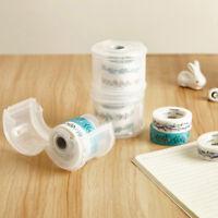Portable Washi Tape Dispenser Paper Tape Cutter Roll Tape Holder Case Box