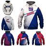 New York Giants Hoodie 3D Print Sweatshirts Football Hooded Pullover Jacket Coat