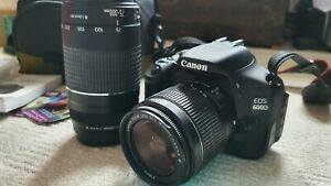 Canon 600D Digital camera,18-55mm and 75-300 Zoom lens