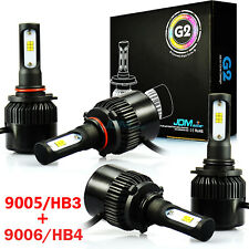 JDM ASTAR 8000LM 9005+9006 Combo LED Headlight Hi/Lo Beam Light Bulb 6000K White