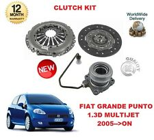 FOR FIAT GRANDE PUNTO 1.3 D 2005->ON 3 PIECE CLUTCH KIT + CENTRAL SLAVE CYLINDER