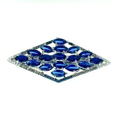USA BARRETTE use Swarovski Crystal Hair Clip Hairpin Elegant Jeweled Blue K02