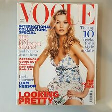 VOGUE UK Magazine - March 2005 'Looking Pretty' Kate Moss Cover