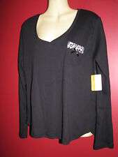ADRIENNE VITTADINI Women's Black Long sleeved Knit Top - Size Large - NWT $58