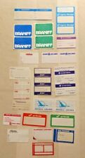 Vintage Airline Label Stickers lot of 20 baggage name ID all different lotD