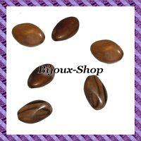 10 Perle olive facette torsadées ''MABOLO'' 31 mm