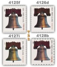 4125f 4126d 4127i 4128b Forever Liberty Bell 2009 Complete Set 4 MNH - Buy Now
