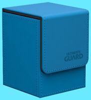 ULTIMATE GUARD LEATHERETTE FLIP 100+ LIGHT BLUE DECK CASE Standard Size Card Box