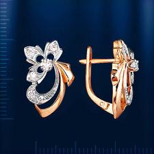 russische Ohrringe mit Fianiten Or33560