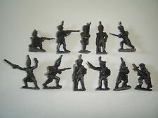 METAL FIGURINES SET - RUSSIAN SOLDIERS BRONZE LARGE SET MINIATURES COLLECTIBLES