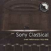 Sony Classical: Great Performances, 1903-1998 (CD, Oct-1999, 4 Discs, Sony Music Distribution (USA))