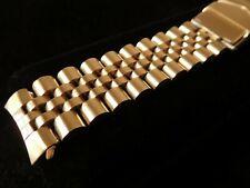 "Mint All Solid Link Gold-tone Diver Watch Bracelet, 6.65"" long, fits 19mm"