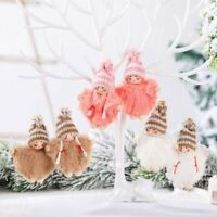 Christmas Angel Plush Doll Pendant Xmas Tree Hanging Decoration Party Ornaments`