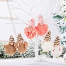 Christmas Angel Plush Doll Pendant Xmas Tree Hanging Decoration Party Ornaments/