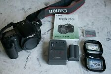 Canon EOS 20D Digital SLR Camera Body with Manual, Battery, Charger, 10Gb CF