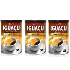 Brazilian Instant Coffee IGUACU Dried Coffee Powder 100g x 3Cans