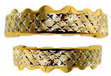 Hip Hop 14K Gold Plated Mouth Teeth Grills Grillz Set - Diamond-Cut Style 2