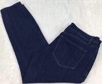 Ann Taylor Modern Fit Low Rise Cropped Jeans Straight Leg Stretch Denim Size 6