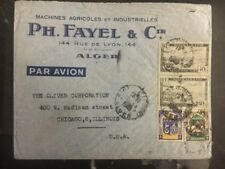 1950s Algeria Commercial cover Agricultural Machinery To Chicago IL Usa